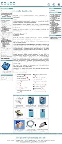 Vista previa de http://controlydosificacion.com/